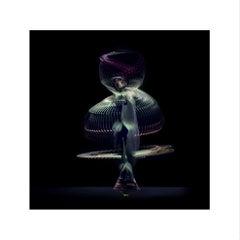 Abstract Dancers, Green 1, 2019 (Photographic Print, Ballet, Dance, Green)