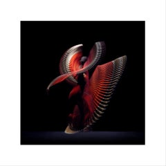 Abstract Dancers, Red 7, 2019 - Contemporary Photography, Red Dresses, Ballet