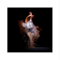 Abstract Dancers, White 1, 2019 (Photographic Print, Ballet, Dance, Orange)