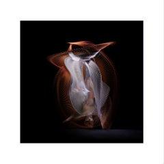 Abstract Dancers, White 2, 2019 (Photographic Print, Ballet, Dance, Orange)