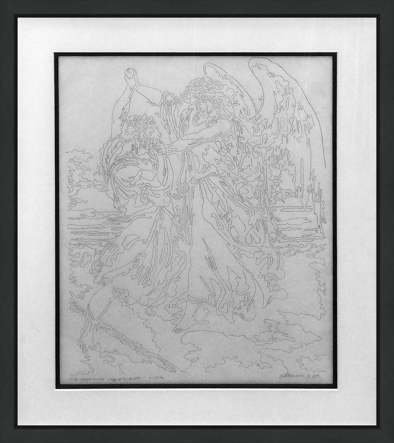 Guillaume Azoulay Figurative Art - ETUDE LINEAIRE D. DORE L'ANGE ET JACOB 1997 ETUDE C