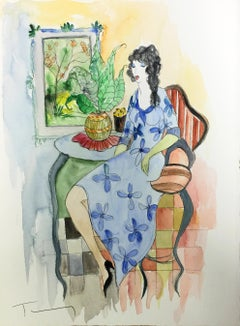 UNTITLED (WOMAN IN BLUE DRESS)