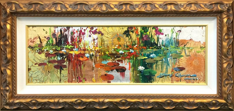 GIVERNY IN GOLD - Expressionist Mixed Media Art by James Coleman