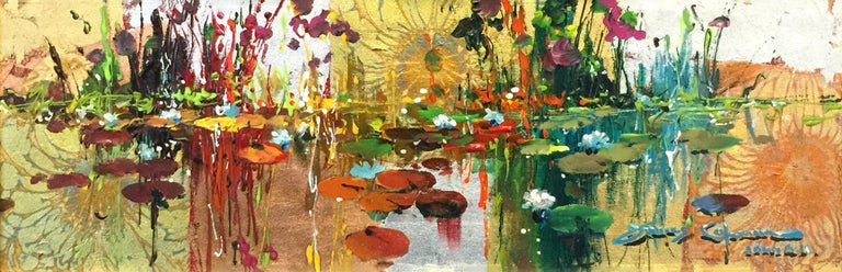 GIVERNY IN GOLD - Mixed Media Art by James Coleman