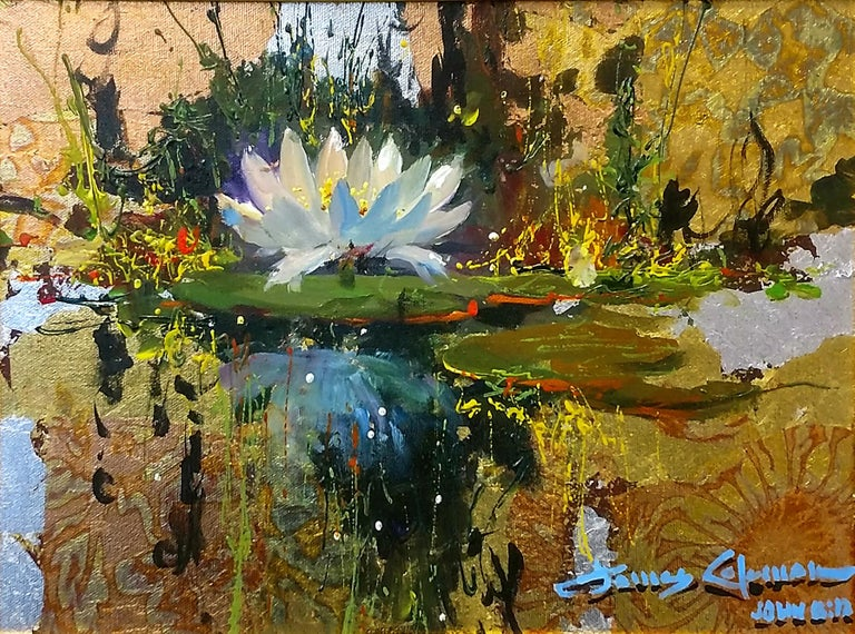 LILY REFLECTIONS - Mixed Media Art by James Coleman