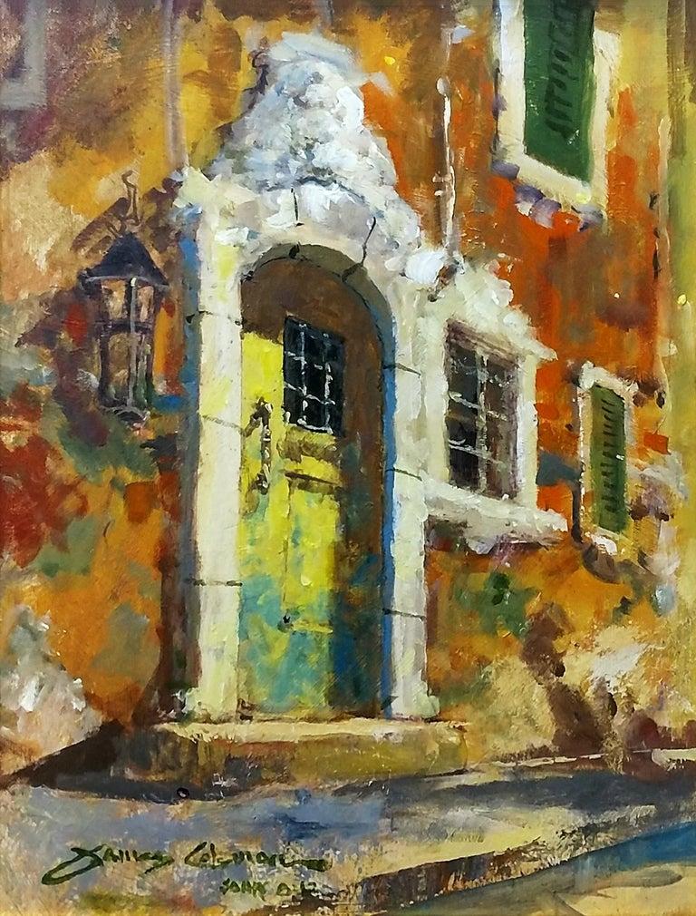 James Coleman Landscape Painting - THE WEATHERED DOOR