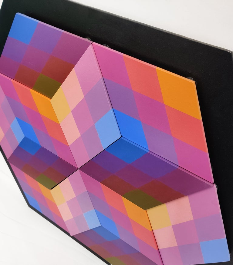 CUBED (DIMENSIONAL PIECES OF WOOD WITHMAGNETS) - Painting by Stan Slutsky
