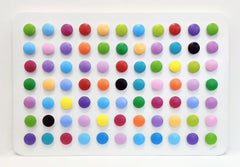 HOMAGE TO HIRST (DIMENSIONAL PIECES OF WOOD WITH MAGNETS)