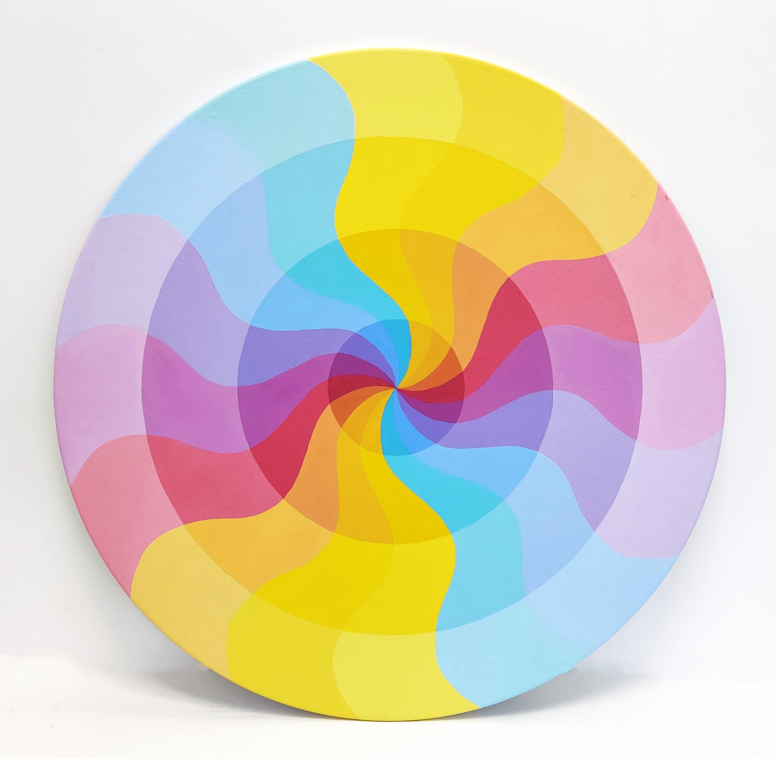 CURVES (CIRCULAR PAINTING ON WOOD)