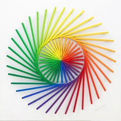 PINWHEEL (DIMENSIONAL PIECES OF WOOD WITH MAGNETS)