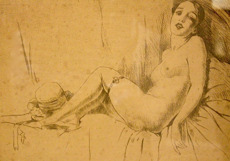 Reclining Nude - Art Deco Art by Unknown