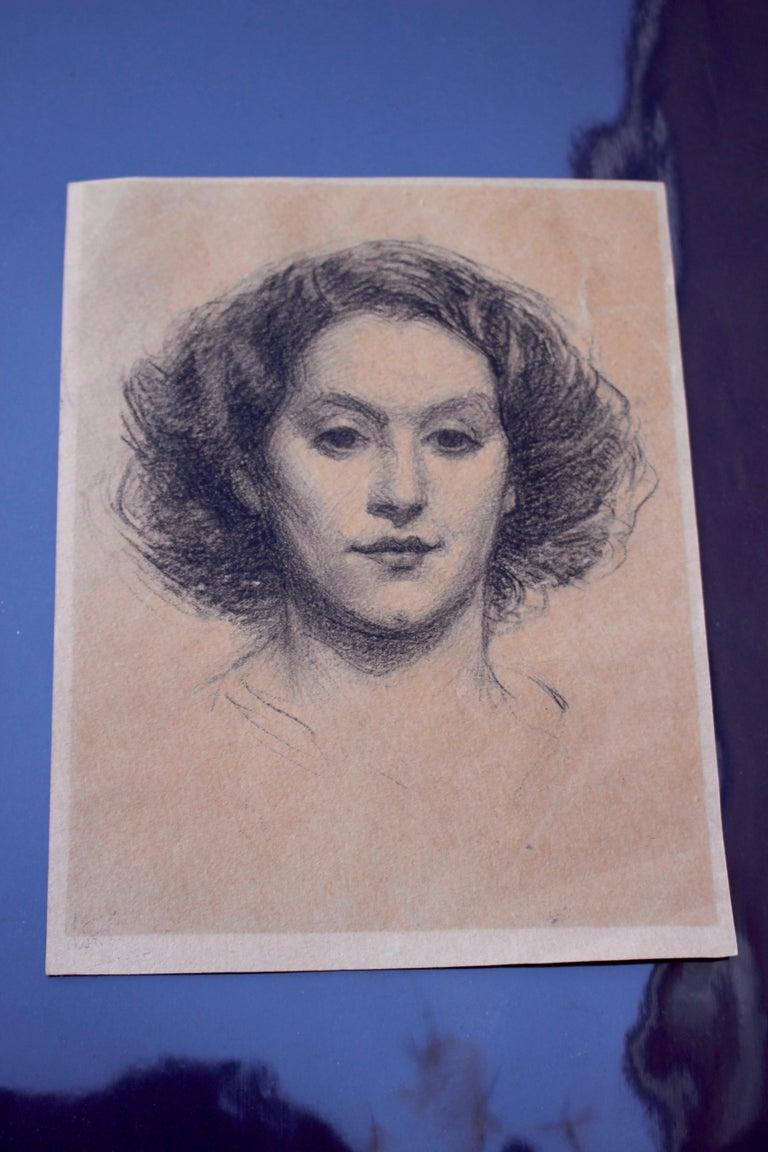 Portrait Of  A Young Lady - Art Nouveau Art by Unknown