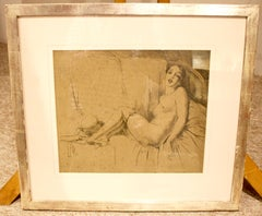 Charcoal Nude Drawings and Watercolours