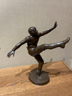 The Joy of the Game by Genevieve Hamlin, Bronze Football Sculpture,  1926
