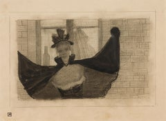 Nineteenth Century Drawing Based on an Opera, La Chauve-Souris (Die Fledermaus)
