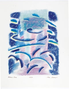 Matisse's Dive, Pastel on paper, 1986, by Alan Gussow inspired by Henri Matisse