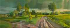 The road I - contemporary acrylic landscape painting on canvas