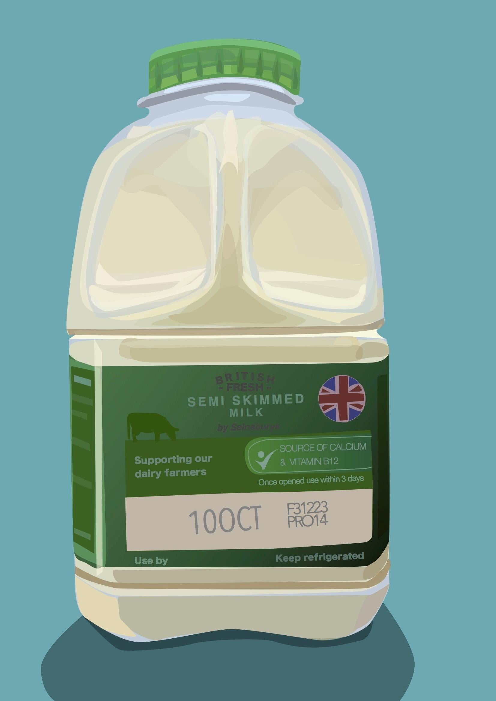 Milk- Contemporary Eco Pop art, digital print on paper