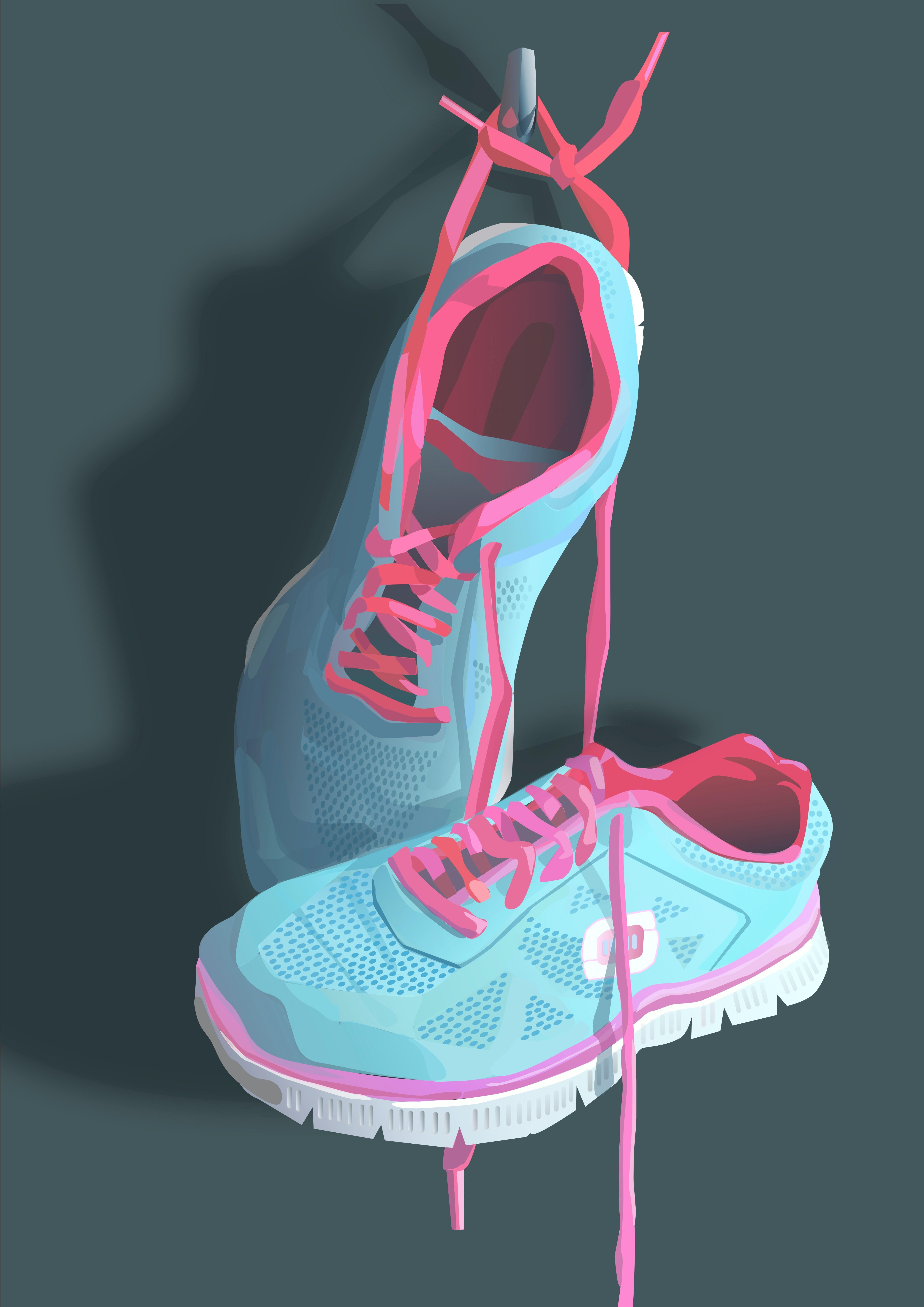 Exercise- Contemporary Eco Pop art, digital print on paper