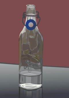 Bottled Water- Contemporary Eco Pop art, digital print on paper