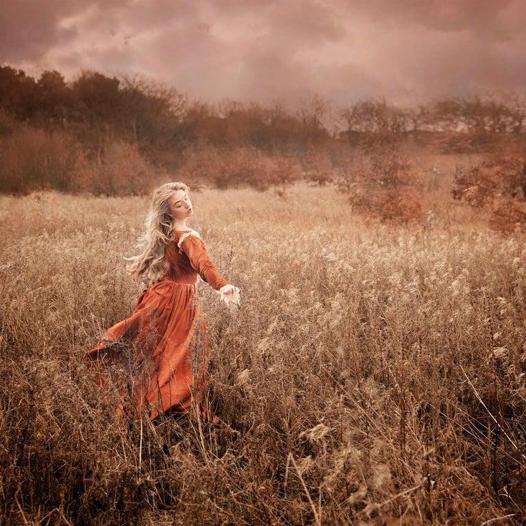 Ceridwen Raynor Figurative Print - Amber Days - contemporary photograph female fairy figure meadow nature