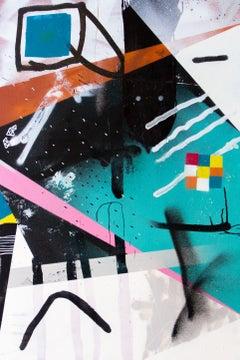 Empyrean Judder - abstract graffiti painting spray acrylic canvas