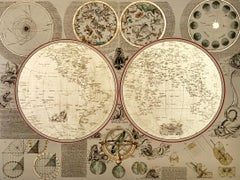 Here be Dragons - detailed historic map Earth gold cartography drawing