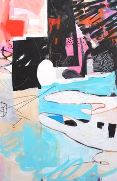 Anti Forms - contemporary abstract colourful graffiti mixed media painting