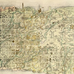 Sacred City - Midtown Manhattan (glicee manhattan map print)