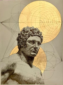 Hercules - geometrical deconstruction of a Roman statue of young Hercules