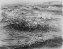 Wave I - Classic / Vintage Seascape: Charcoal on Paper