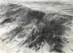 Groyne - Classic / Vintage Seascape: Charcoal on Paper