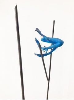 Dardo II - contemporary, animal sculpture, bronze, patina and iron, 21st C.