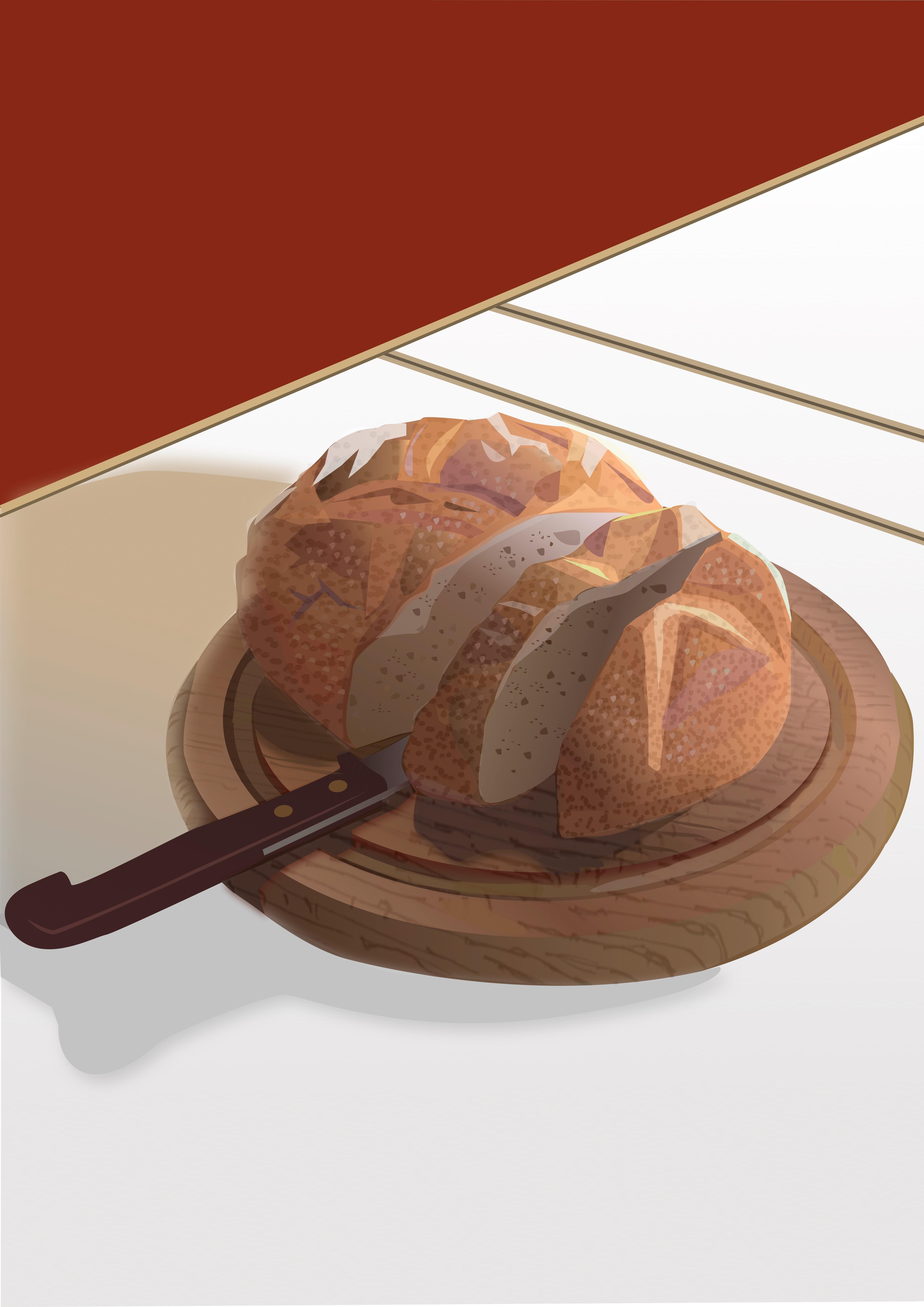 Bread- Contemporary Eco Pop art, digital print on paper
