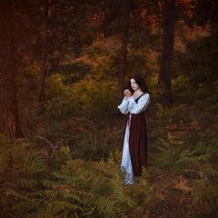 Wishing - contemporary photograph female figure mythological nature forest