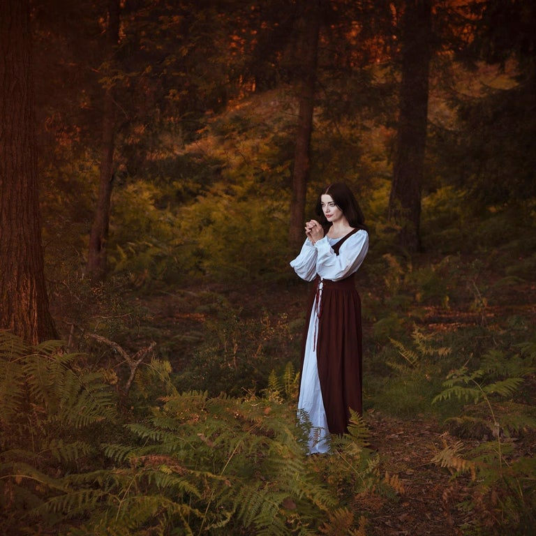 Ceridwen Raynor Figurative Print - Wishing - contemporary photograph female figure mythological nature forest