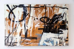 Wall Traditions - spray masonry calico abstract painting on canvas