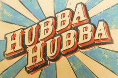 Hubba -  pop art writing colourful print aluminium