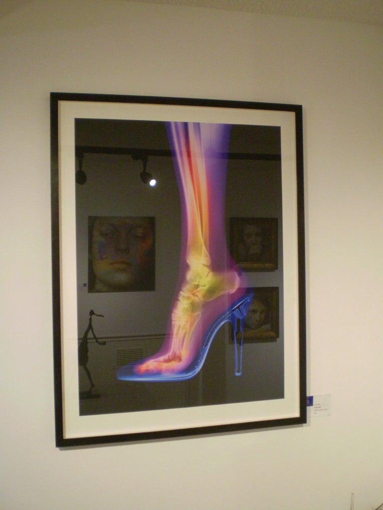 Femme Fatale - contemporary female leg high heel xogram x-ray photograph print For Sale 1