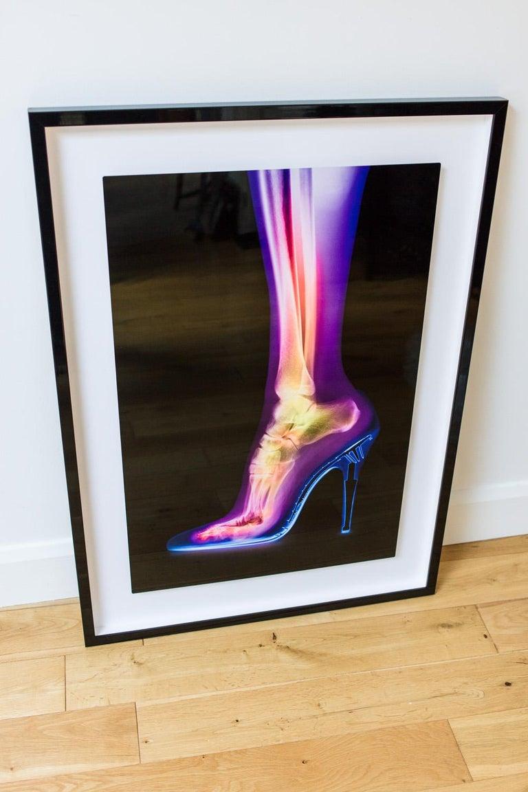 Femme Fatale - contemporary female leg high heel xogram x-ray photograph print For Sale 3