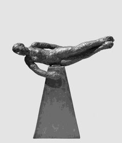 As Things Should Be -bronze and graphite resin contemporary figurative sculpture