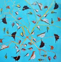 As Also Are Those That Heard - contemporary birds nature acrylic painting canvas