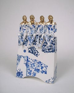 Four Pugilists Waiting for the Swifts - contemporary ceramic sculpture