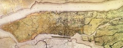 Sacred City - New York (gold leaf new york map print)
