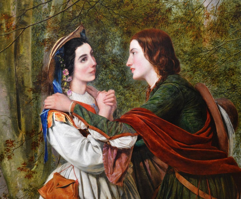 Rosalind & Celia, As You Like It - 19thC Oil Painting Shakespeare Royal Academy For Sale 1