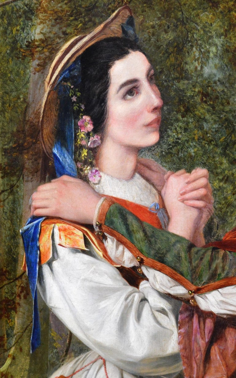 Rosalind & Celia, As You Like It - 19thC Oil Painting Shakespeare Royal Academy For Sale 3
