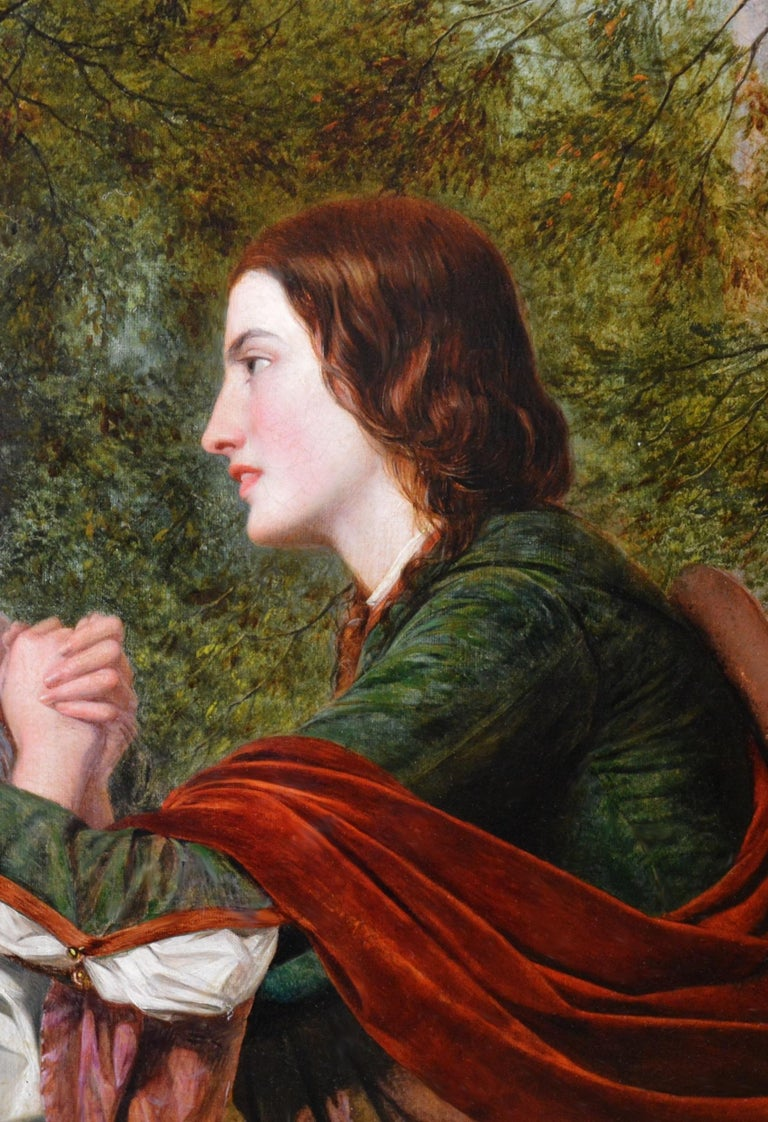 Rosalind & Celia, As You Like It - 19thC Oil Painting Shakespeare Royal Academy For Sale 4