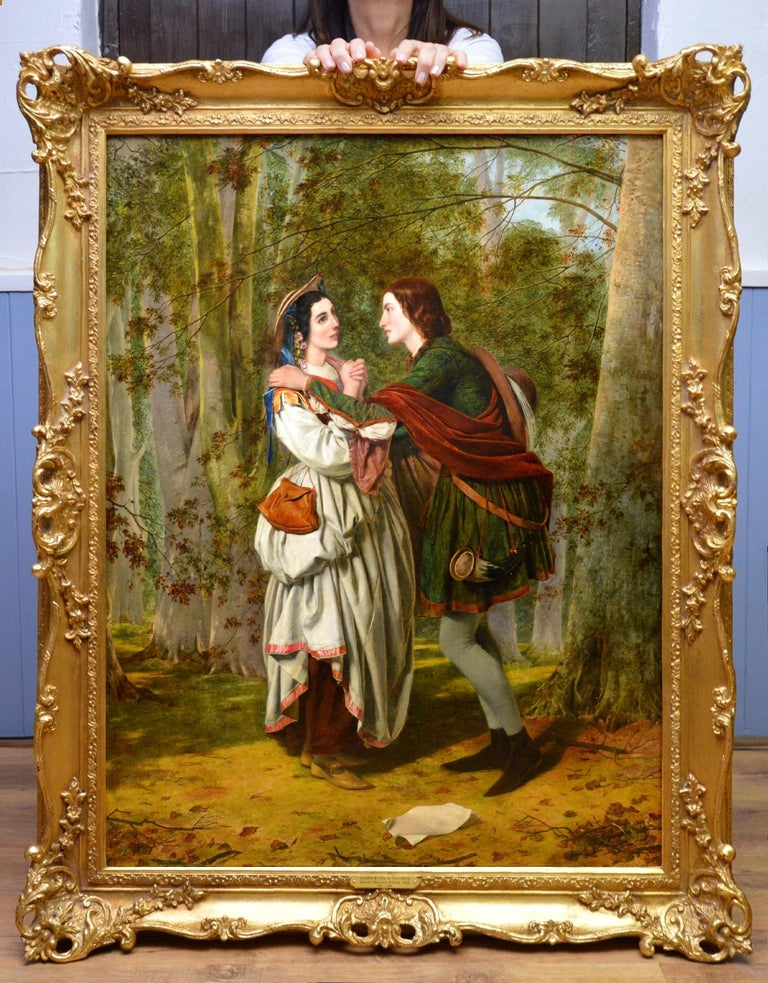 Rosalind & Celia, As You Like It - 19thC Oil Painting Shakespeare Royal Academy - Brown Figurative Painting by Henry Nelson O'Neil