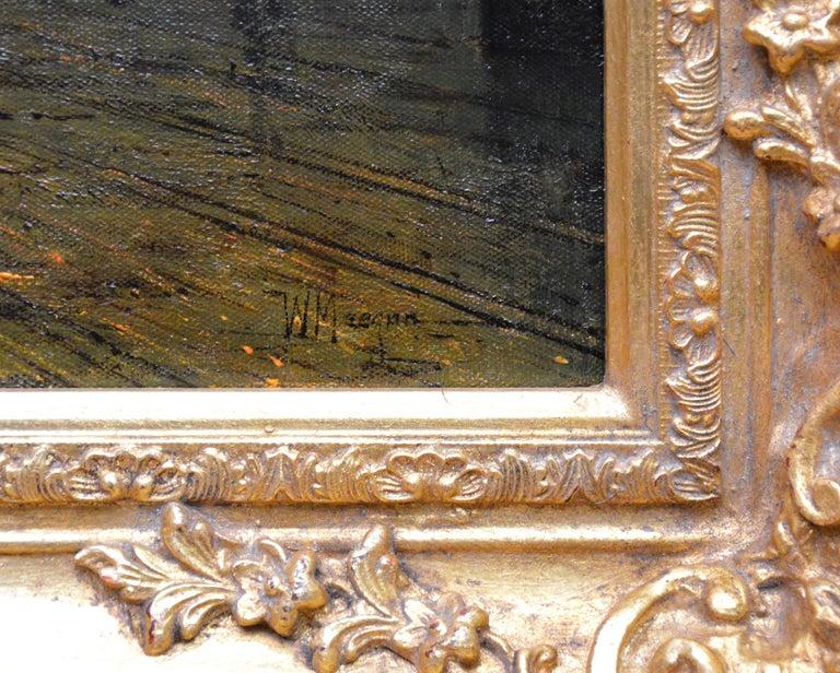 Glasgow Docks - Moonlight Nocturne Landscape - Pupil of Atkinson Grimshaw For Sale 3