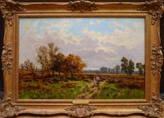 Near Stratford on Avon - 19th Century English Landscape Oil Painting Shakespeare